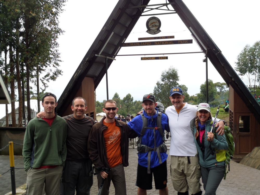 Climbing Team for Kilimanjaro