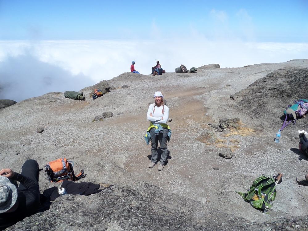 climbing kilimanjaro with Gina schreck