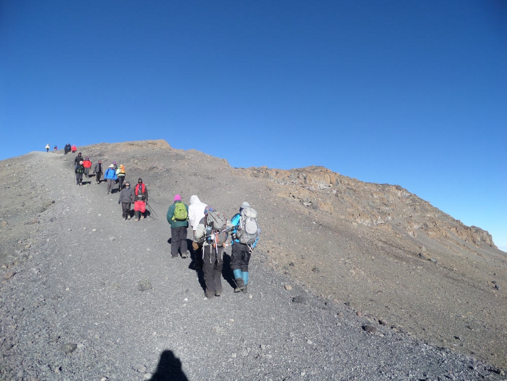 Almost to the summit kilimanjaro