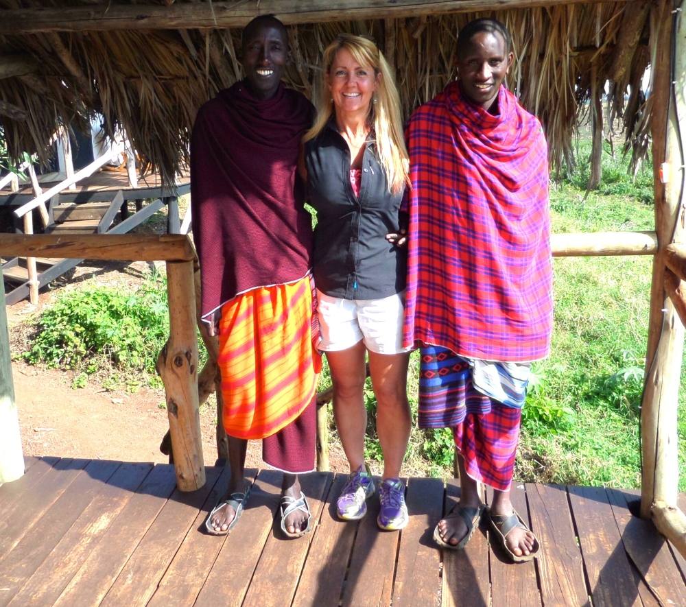 Gina Schreck Masai warriors