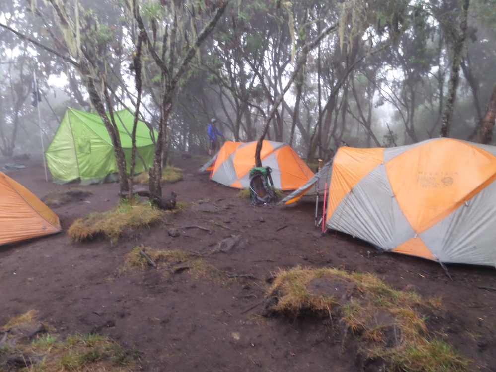 tents night one on Kilimanjaro