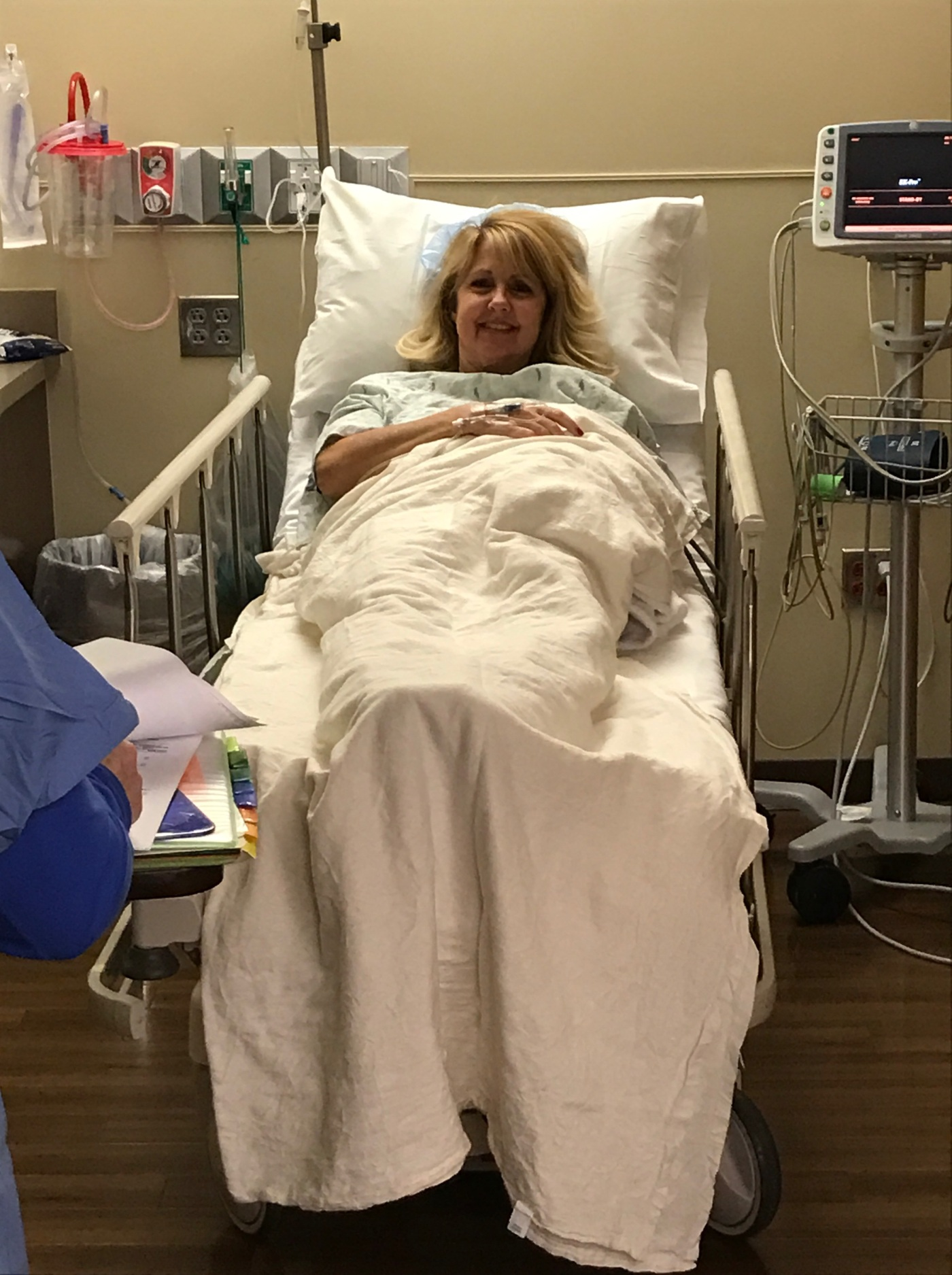 Gina Schreck Hip replacement surgery